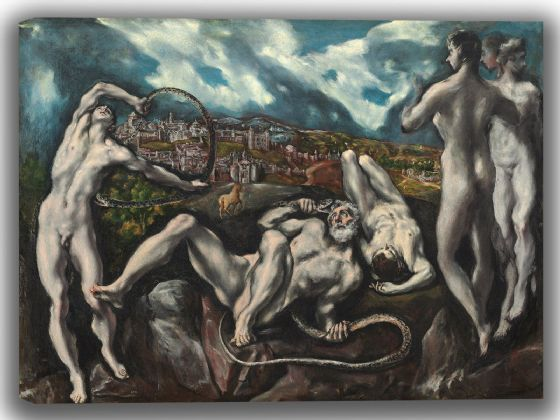 El Greco (Domenico Theotocopuli): Laocoön. Fine Art Canvas. Sizes: A4/A3/A2/A1 (004091)